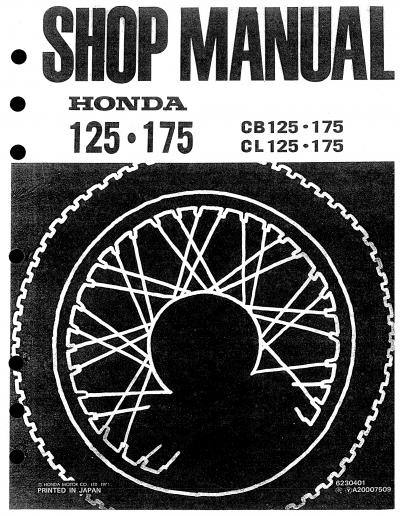 honda cb175 1971 workshop manual rh 4 stroke net honda cd175 manual download honda cd175 manual