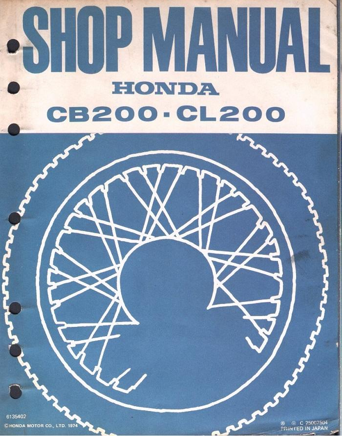 Honda CB200 Workshop manual (1974)