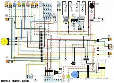 honda cb400 wiring diagram rh 4 stroke net Light Switch Wiring Diagram 1975 cb400f wiring diagram