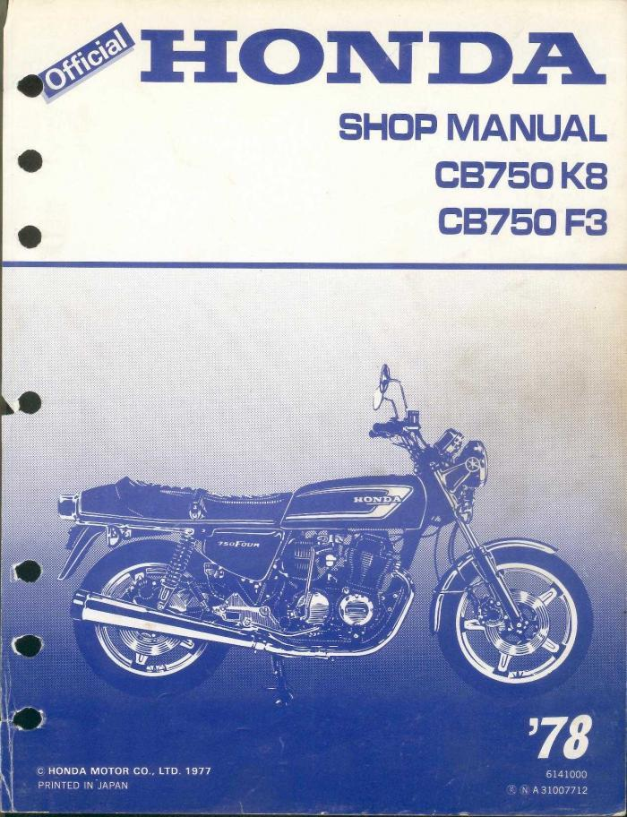 honda cb750 f3 1978 workshop manual. Black Bedroom Furniture Sets. Home Design Ideas