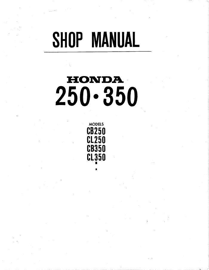 honda cl350 workshop manual