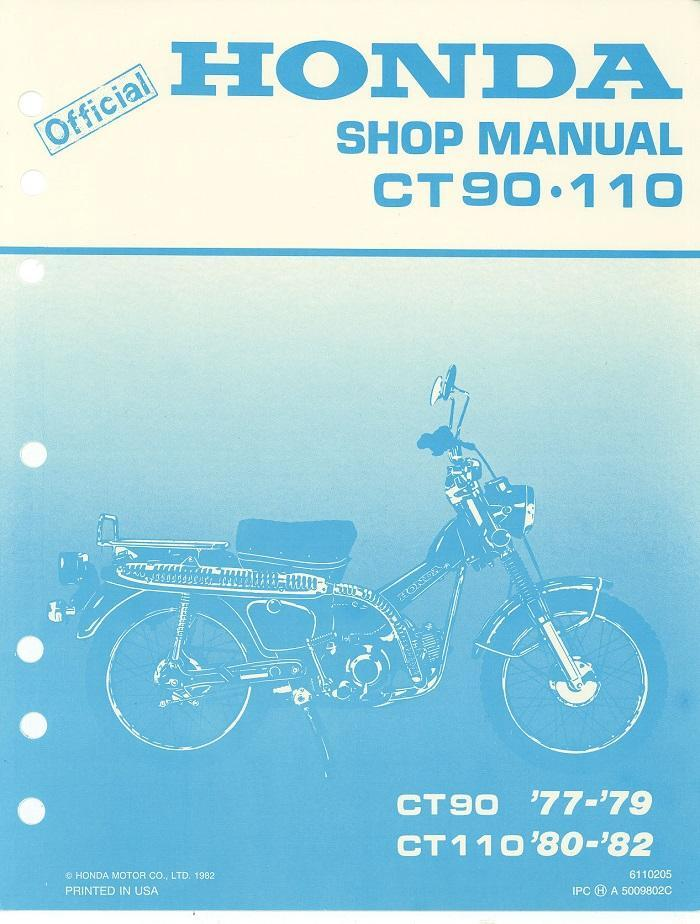 1980 Honda Ct110 Manual - User Guide Manual That Easy-to-read •