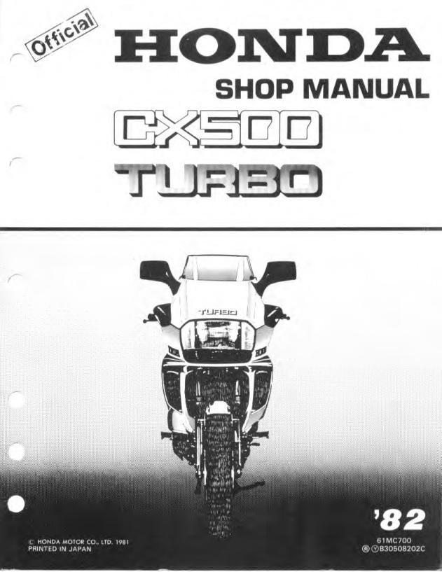 honda cx500tc 1982 workshop manual rh 4 stroke net Honda Motorcycle Service Manual Helm Service Manuals Honda