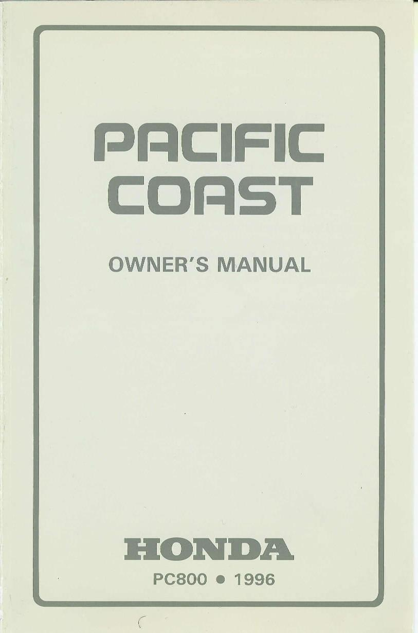Owner's manual and workshop manual for PC800Honda 4-stroke.net