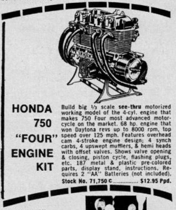 honda 750  u0026quot four u0026quot  engine kit