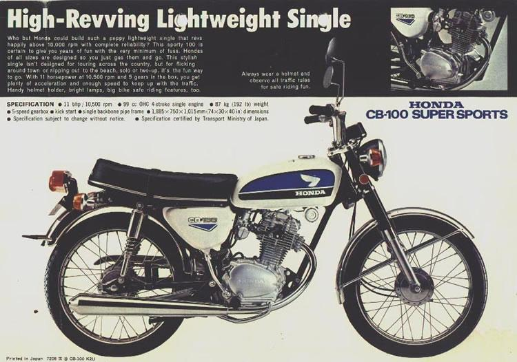 The Honda CB100 SS - A High-revving Lightweight Single
