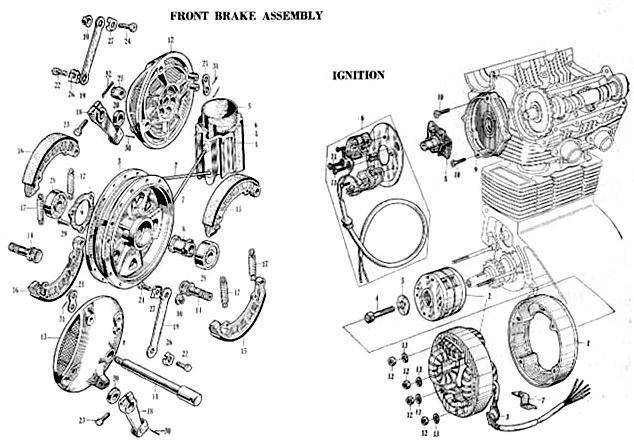 Fron brake assembly ignition