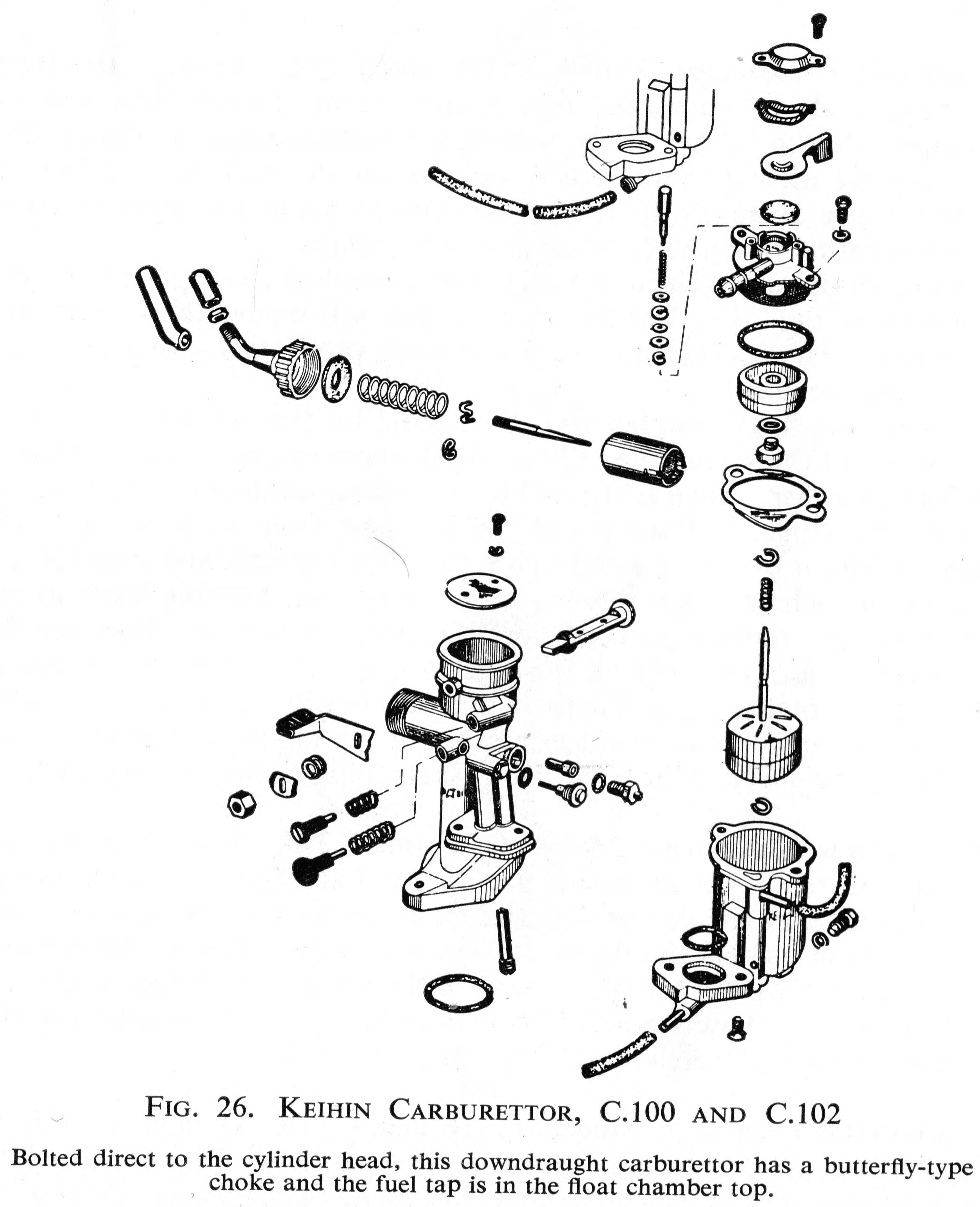 Keihin Carburetor For Honda C100 All The Data Super Cub Wiring Diagram Boh Carburettor
