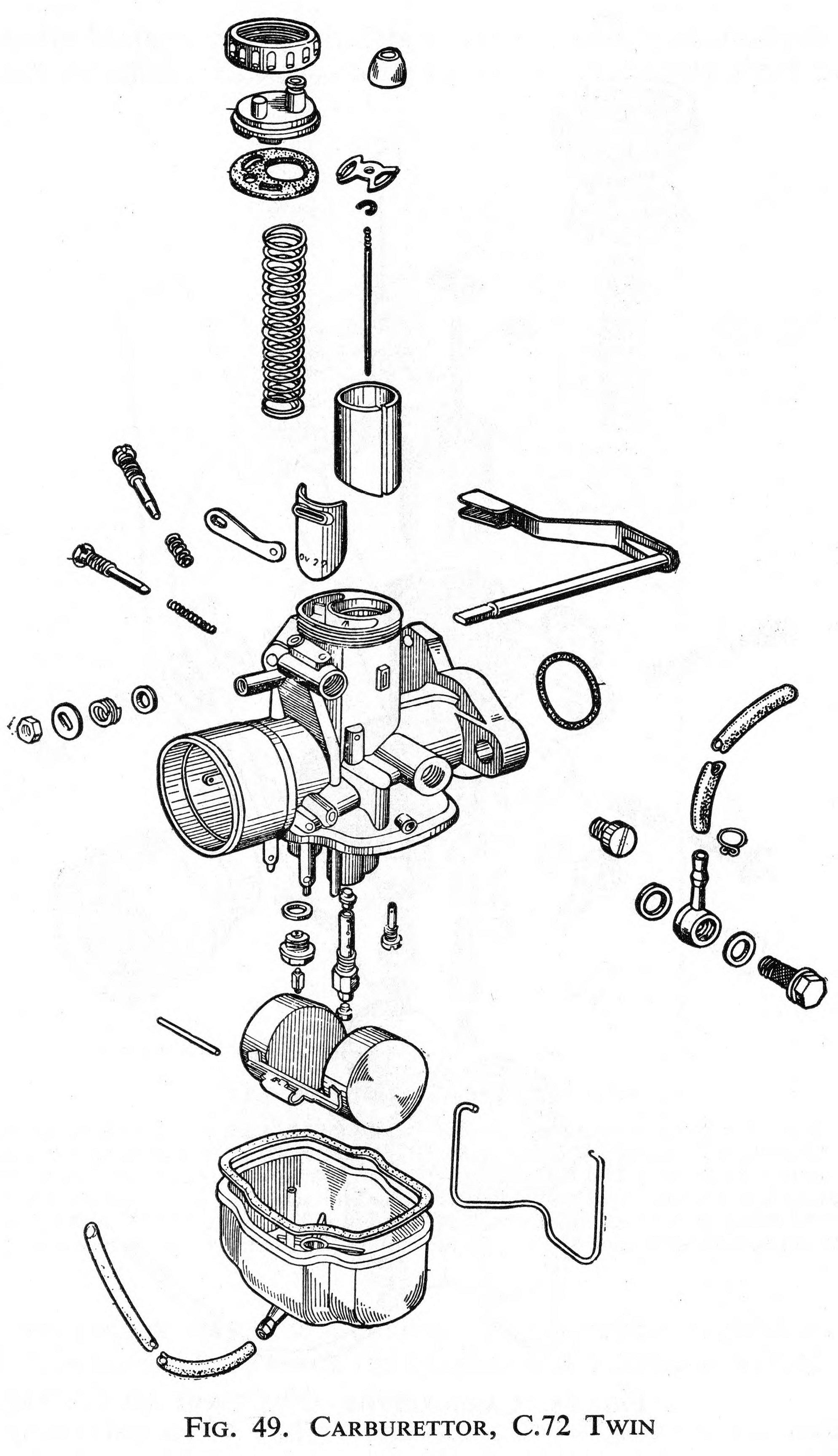 Carburetor for the Honda C72 Twin