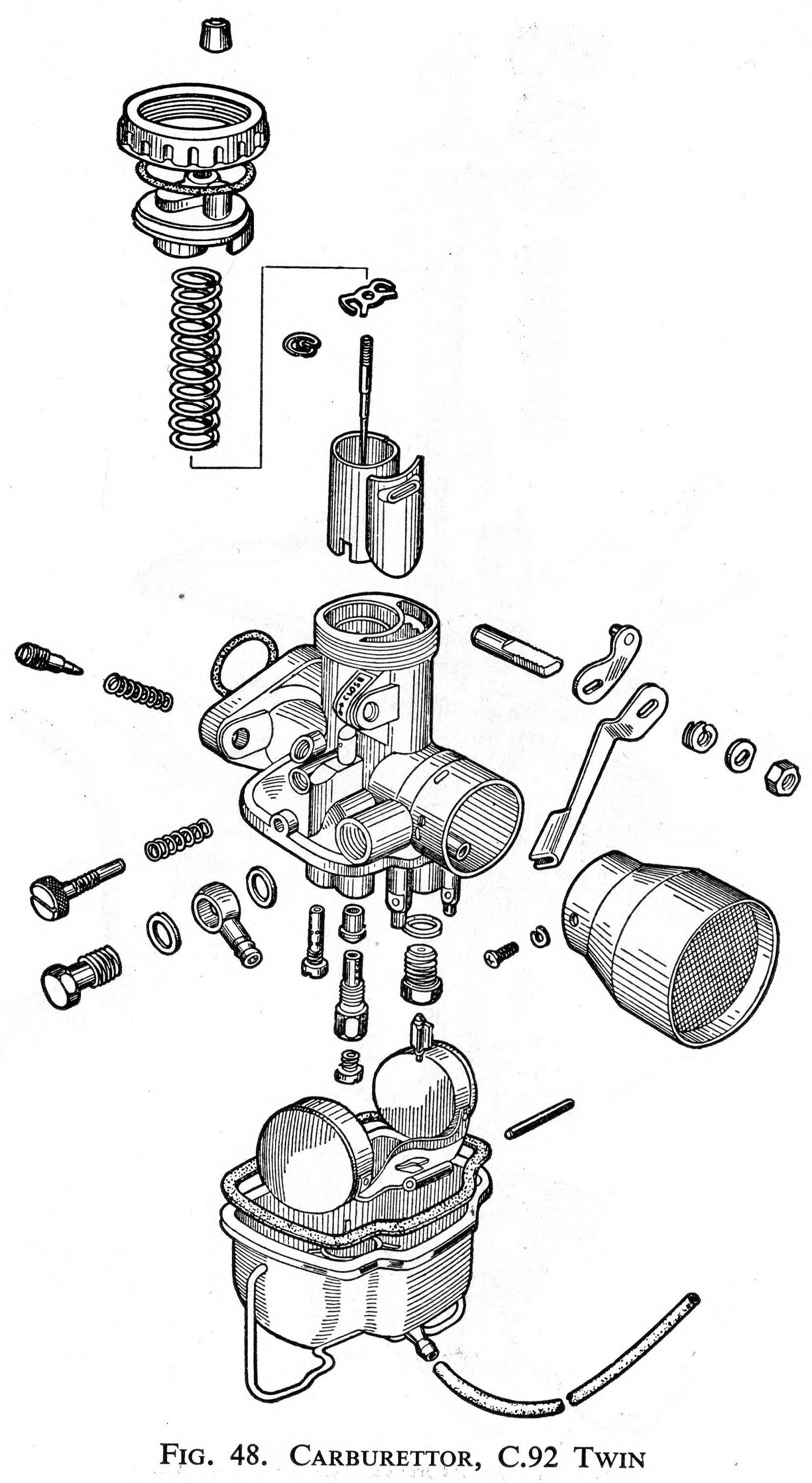 Carburetor for the Honda C92 Twin