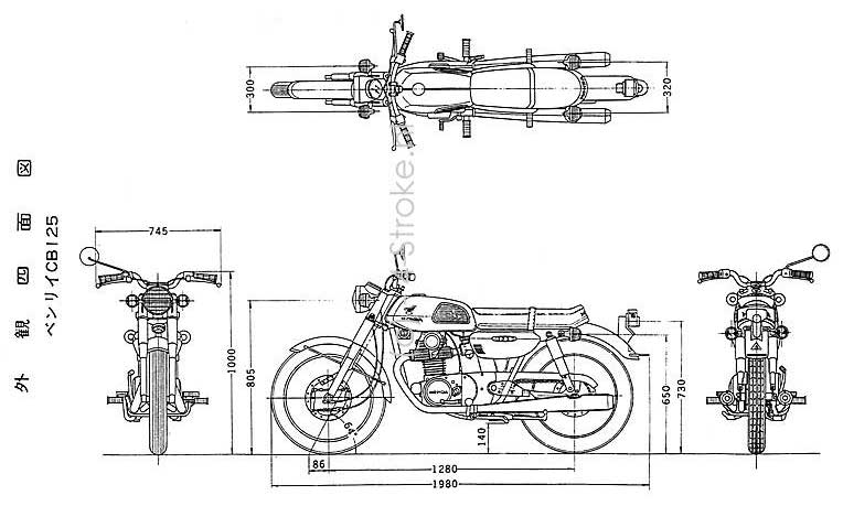 1980 honda cb 125 frame diagram  honda  auto parts catalog