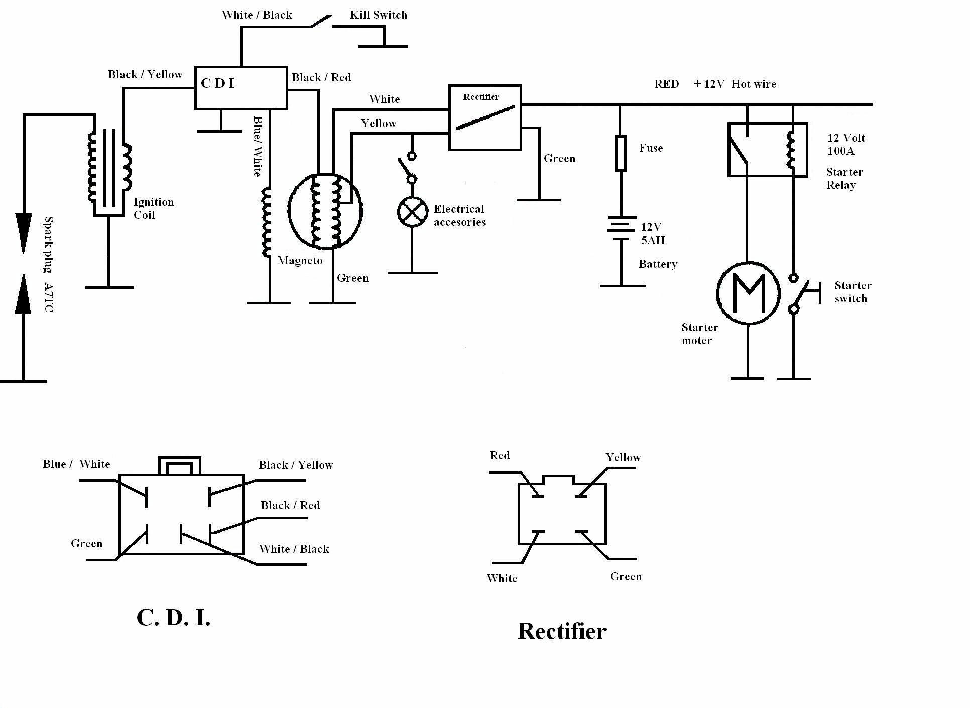 electric motor bedradings schema rectifier