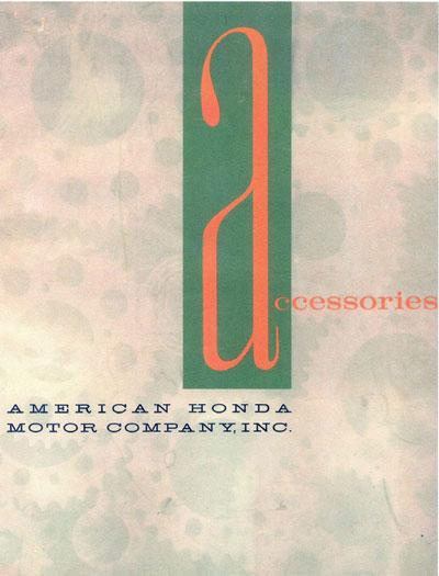 Honda Accessory book (1961)