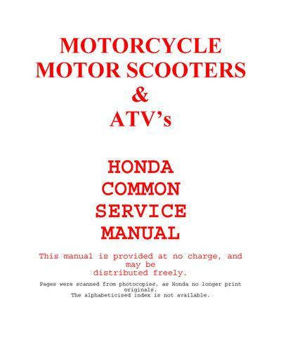 Honda Common Service Manual