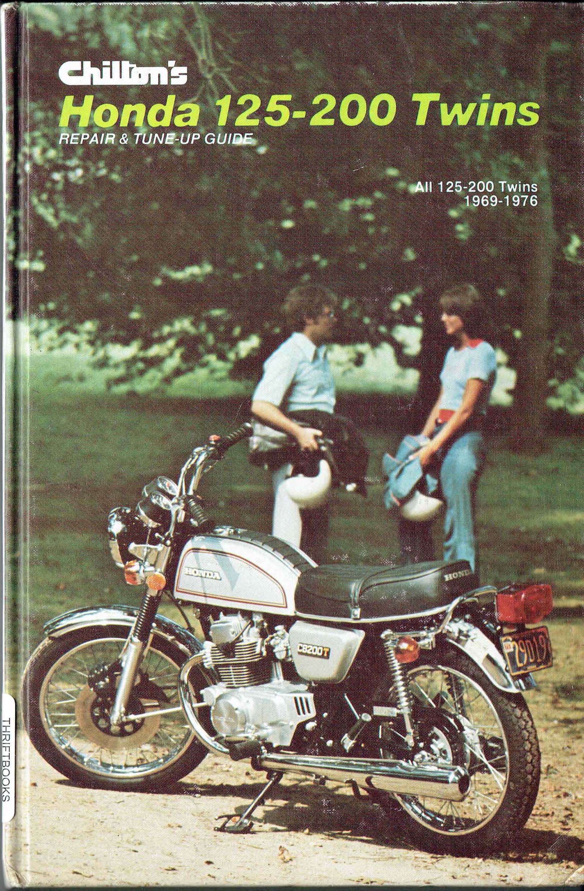 Books Brochures And Misc All The Data For Your 1970 Honda Ct70 Chiltons 125 200 Twins Repair Tuning Guide 1975