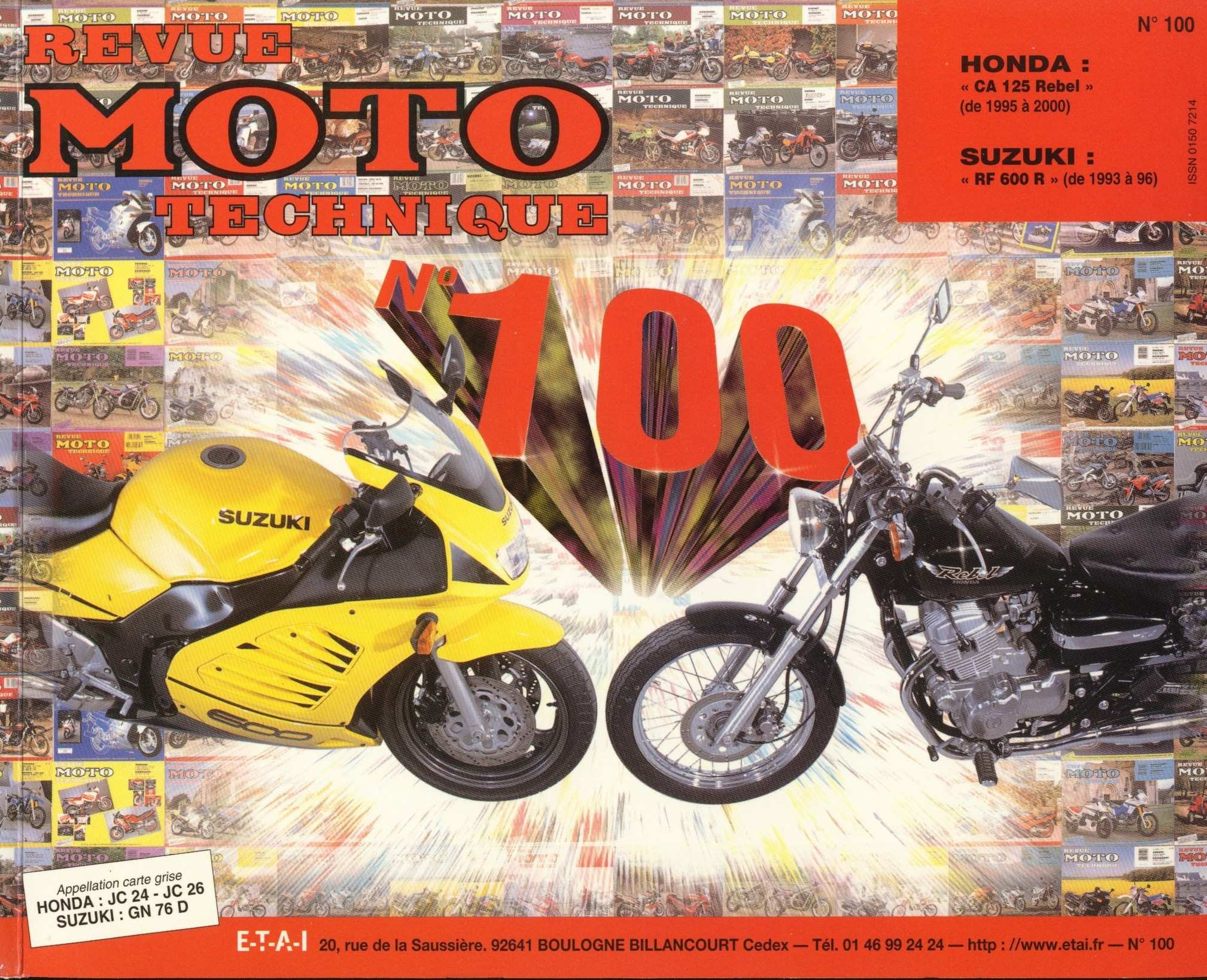 Revue moto technique - no. 100 CA125W Rebel JC24 (1998) (French)