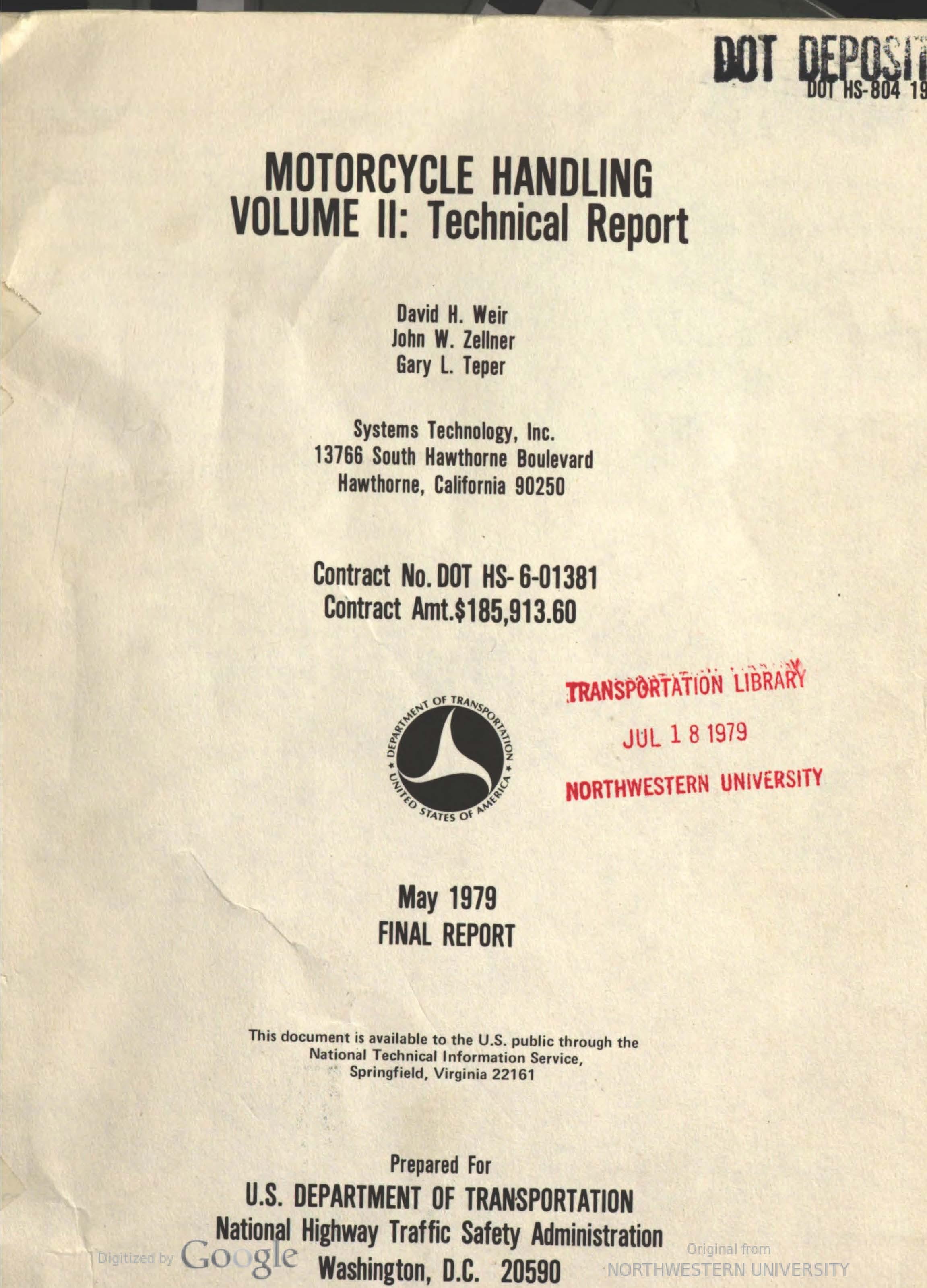 Motorcycle handling - volume 2 (1979)