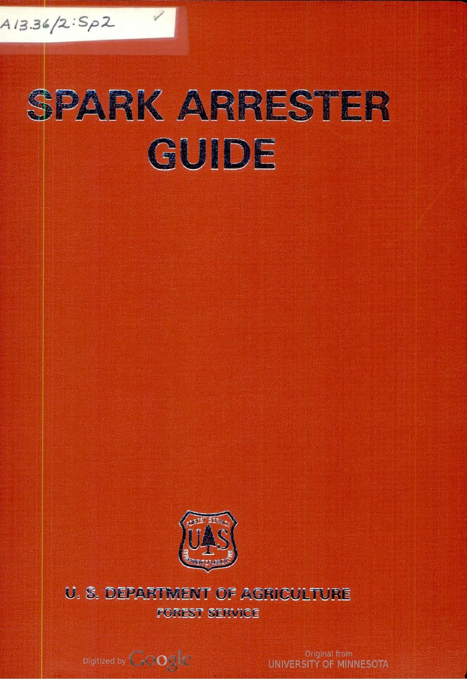 Spark Arrester Guide (1976)
