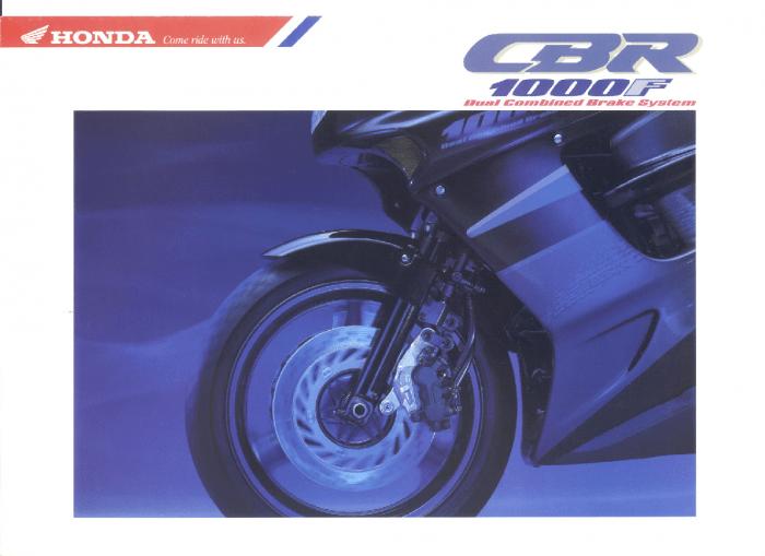 Honda CBR1000F (1993) Brochure