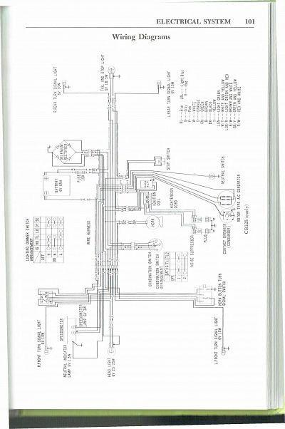 wiring schematic 4 stroke net all the data for your honda honda cb125 early wiring schematic