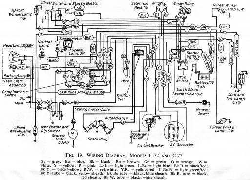honda c72 wiring schematic - hires - 4-stroke net