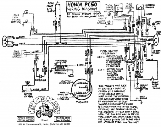 wiring diagram honda pa 50 wiring diagram for 1972 50 hp evinrude honda pc50 wiring schematic - 4-stroke.net - all the data ...