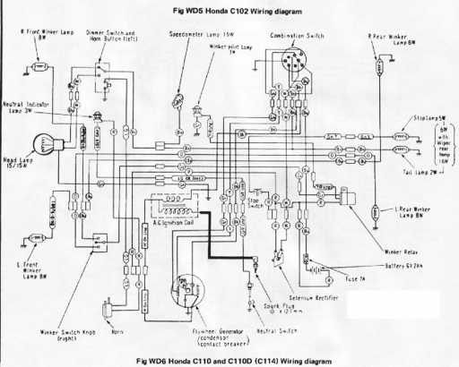 honda c110d wiring schematic - 4-stroke.net - all the data ... 2003 honda civic stereo wiring diagram #10