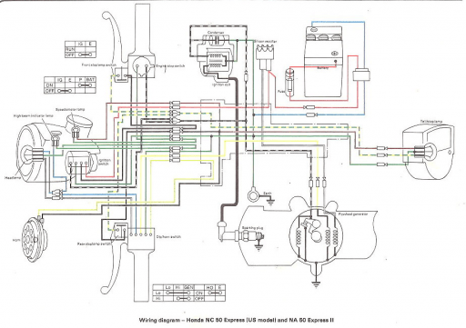 wiring schematic 4 stroke net all the data for your honda honda nc50 express us wiring schematic