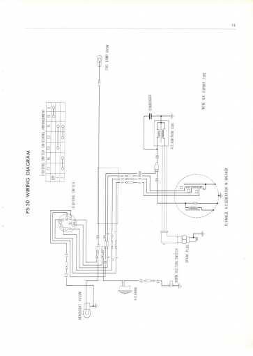 honda ps50 uk  1968  wiring schematic - 4-stroke net