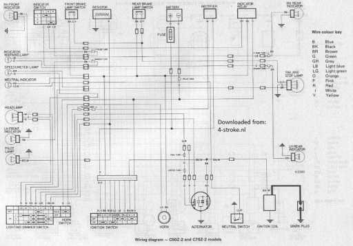 honda c50z2 c70z2 wiring schematic - 4-stroke net