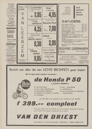 De Faam en de Faam   de Vlissinger  1968  18 juli 1968  pagina 12 Honda p50