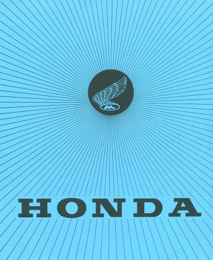 Poster from Owners manual for Honda Z50A