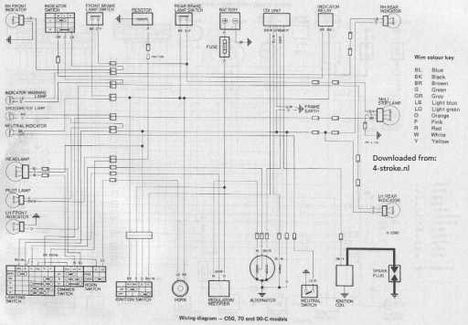 honda c50 c70 c90c wiring schematic 4 stroke net all the data rh 4 stroke net Honda CT70 Wiring-Diagram Honda C70 Wiring Diagram PDF