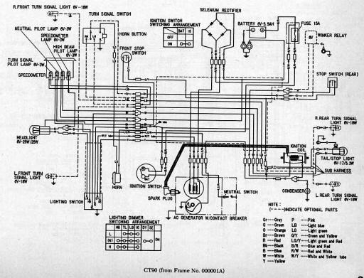 Wiring Schematic For Honda Ct90 Ot