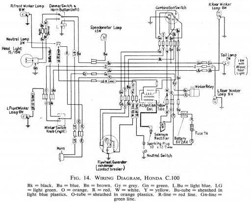 honda 1967 trail 90 wiring diagram