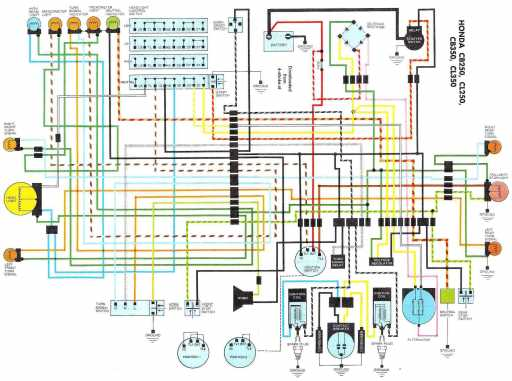 wiring schematic 4 stroke net all the data for your honda honda cl250 wiring schematic