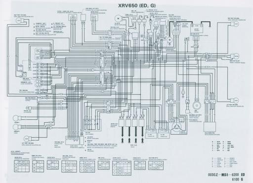 Wiring schematic for Honda XRV650G