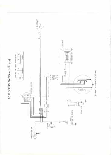 honda pc50 uk  1968  wiring schematic - 4-stroke net