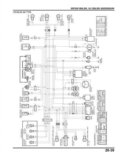 honda xr150lek nz type wiring schematic