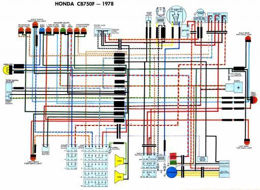 Honda CB750F (1978) Wiring Schematic