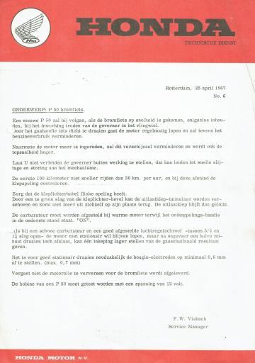 Servicebulletin 06 (1967)