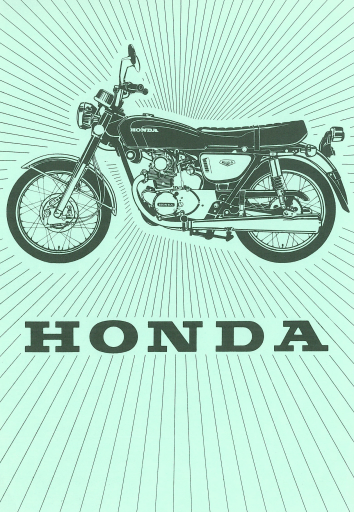 Poster from Owners manual for Honda CB125K5