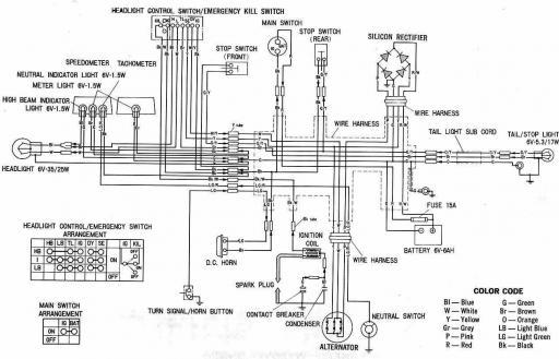 Wiring Schematic for Honda XL100