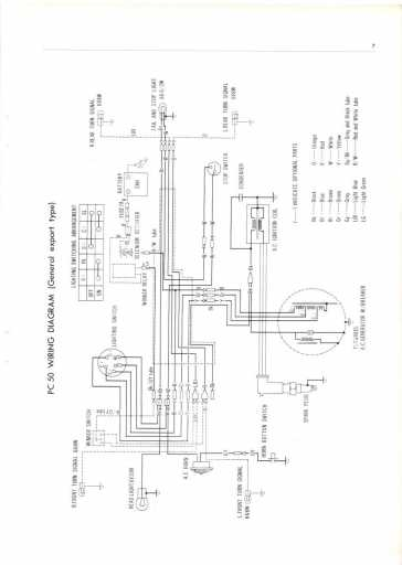 honda pc50 export  1968  wiring schematic - 4-stroke net