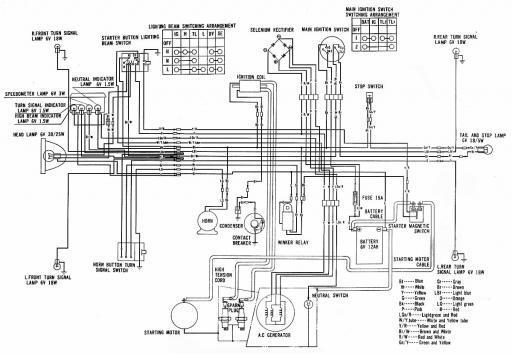 honda cd175 wiring schematic