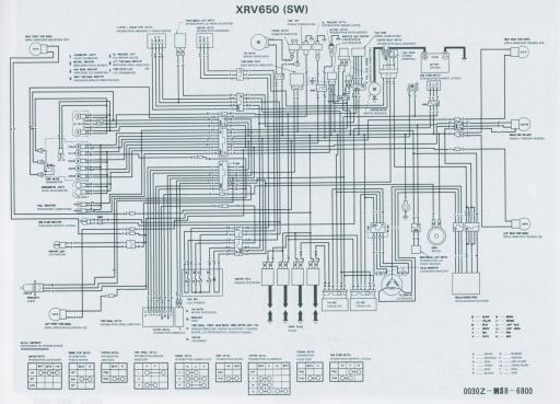 Wiring schematic for Honda XRV650SW
