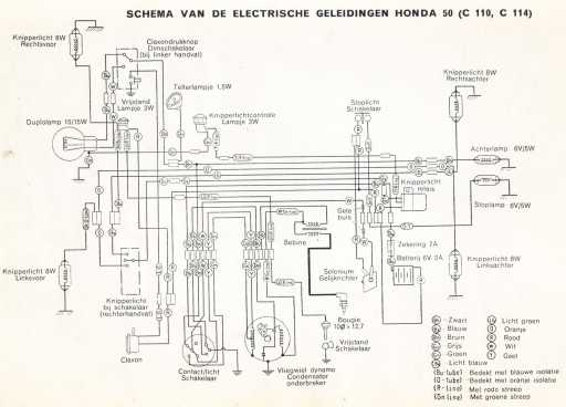 Honda C110 (Dutch) Wiring Schematic