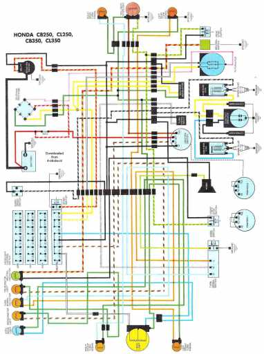 wiring schematic 4 stroke net all the data for your honda honda cb350 wiring schematic