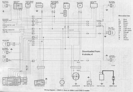 Honda C50z  C50l And C70z Wiring Schematic