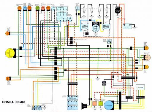 wiring diagrams 4 stroke net all the data for your honda honda cb500 wiring schematic
